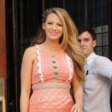 Blake Lively melena ondulada en Nueva York