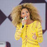 Beyoncé actuando en 'Good Morning America'