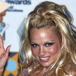 Pamela Anderson en los 'MTV Europe Music Awards' en el Palau Sant Jordi