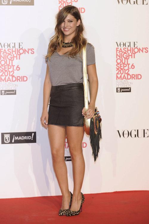 Úrsula Corberó en la 'Vogue Fashion Night Out 2012'