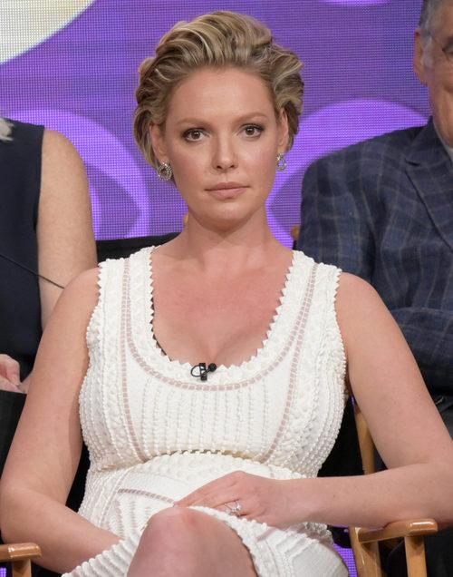 Katherine Heigl en el panel de 'Doubt'