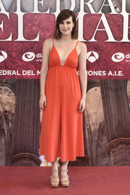 Natalia de Molina en la presentación del rodaje de 'La Catedral del Mar'