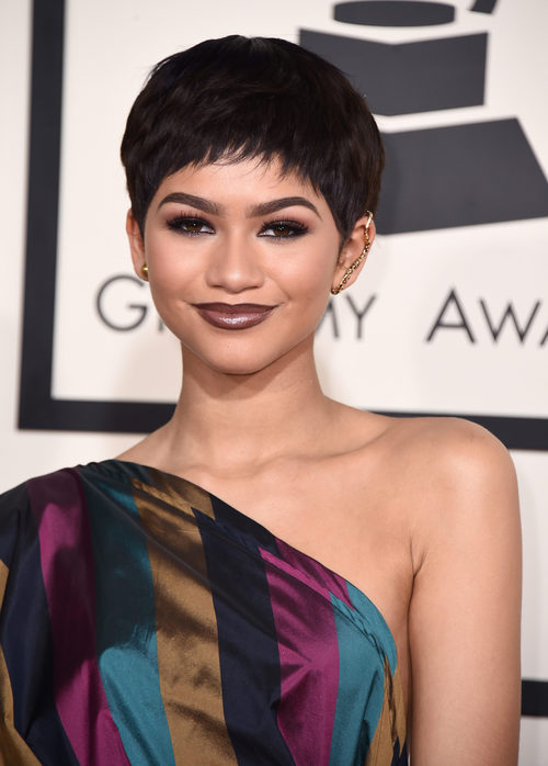 Zendaya en la 57 edición de los premios Grammy