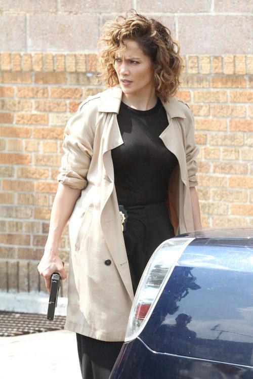 Jennifer Lopez en el set de 'Shades of Blue'