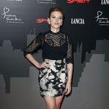 Scarlett Johansson con un recogido sleek en Madrid