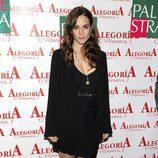 Silvia Alonso con la raya al lado en el aniversario del Club Palestra