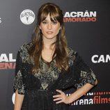 Silvia Alonso con un semi-recogido y flequillo