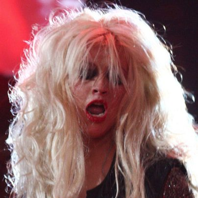 Christina Aguilera como una leona