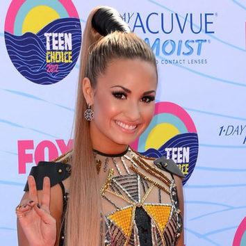 La altísima coleta de Demi Lovato