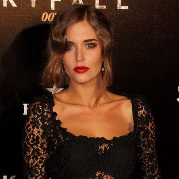 Clara Alonso con mucho glamour