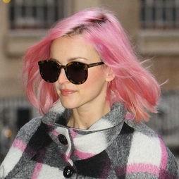 Fearne Cotton se apunta a la moda del pelo rosa
