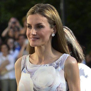 La Reina Letizia, melena al viento