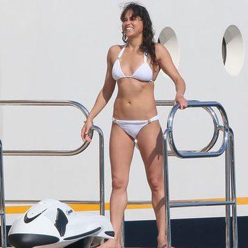 Michelle Rodriguez, despeinada en alta mar