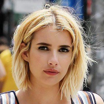 Emma Roberts pasea su corte bob por Nueva York
