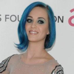 Katy Perry feliz en su nube azul