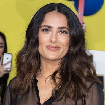 Salma Hayek con un look natural en la premiere de 'La fiesta de las salchichas'