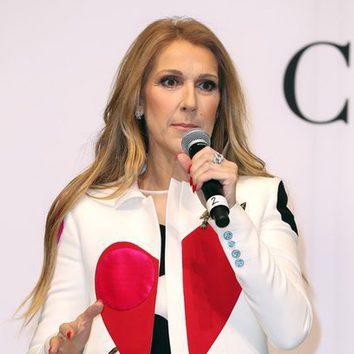 Céline Dion opta por una larga melena rubia