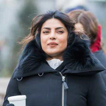 Priyanka Chopra 'esconde' el frío de Nueva York