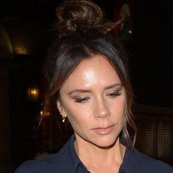 El look apagado de Victoria Beckham