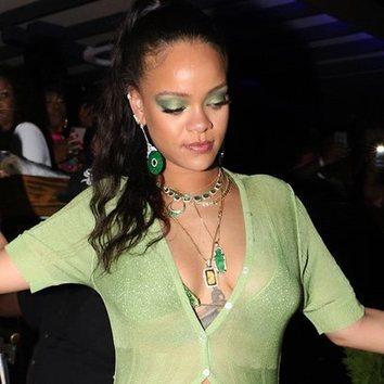 Rihanna y su pasión por el verde jade