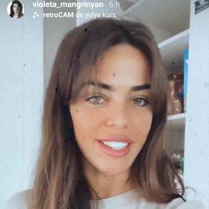 El beauty look de cuarentena de Violeta Mangriñán