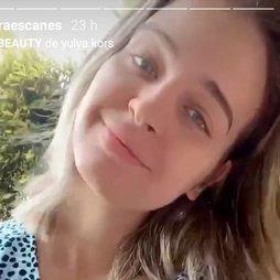 Laura Escanes muestra cómo es su cabello recién lavado