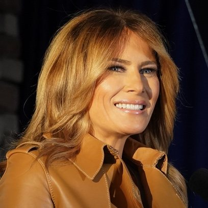 La melena perfecta de Melania Trump