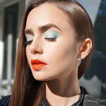 El potente maquillaje de Lily Collins